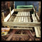 Making the raised bed.