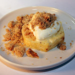 Pineapple with crumble topping