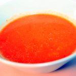Potato, tomato and coconutmilk soup