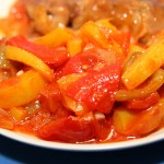 Piperade (a North Spanish pepper stew)