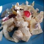 Chicory salad with fruit